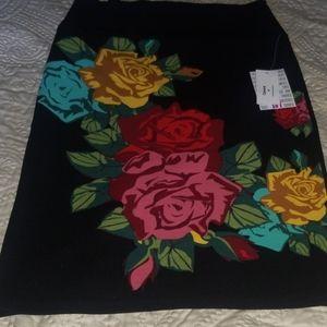 New Lularoe Cassie Floral Multicolor Skirt Medium